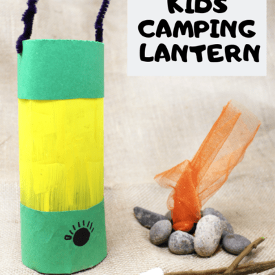 Cute Camping Craft For Kids: Glowing Camping Lantern (Made from a Water Bottle!)