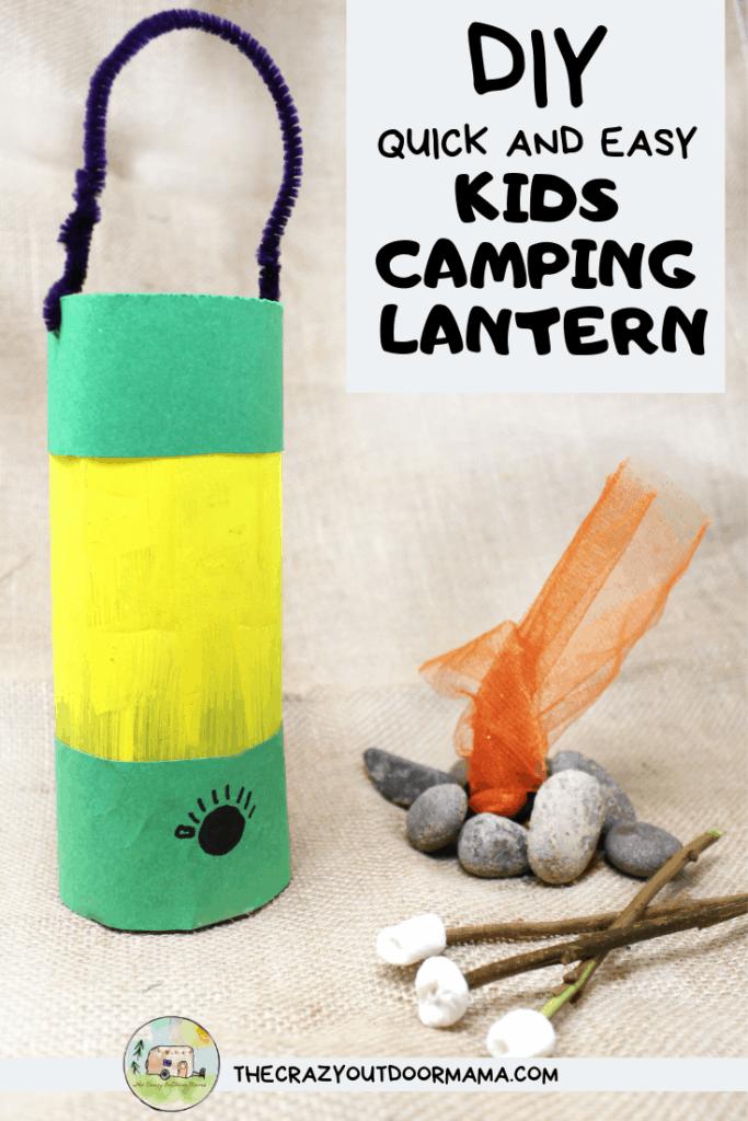 kids camp camping lantern craft