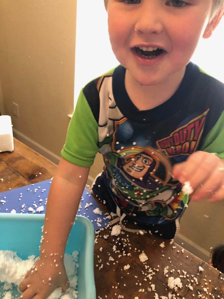 fun snowman craft for kids with styrofoam