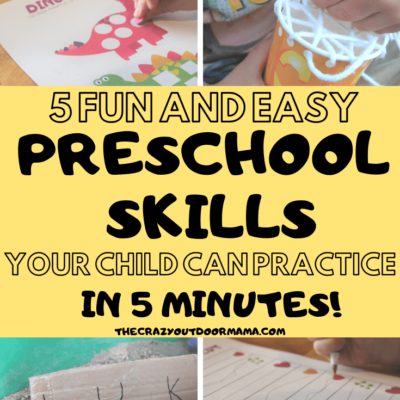 5 Easy Preschool Practice Activities to do in Five Minutes!