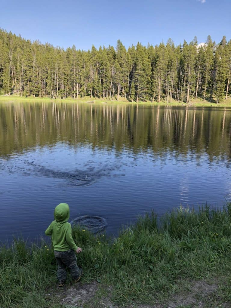 choosing a campsite when camping with a toddler