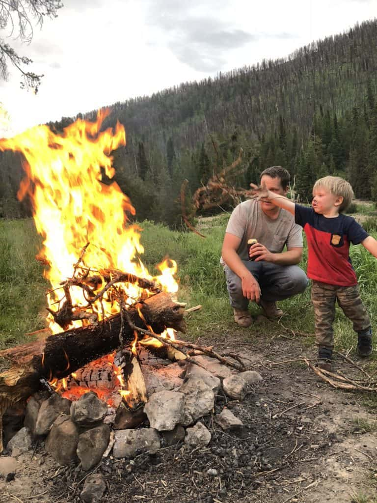 fire safety with kids while camping