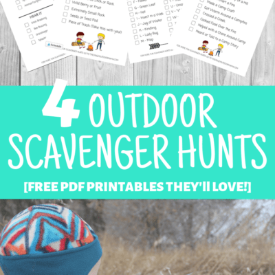5 Fun Scavenger Hunts to Play at Camp! [Free Printables!]
