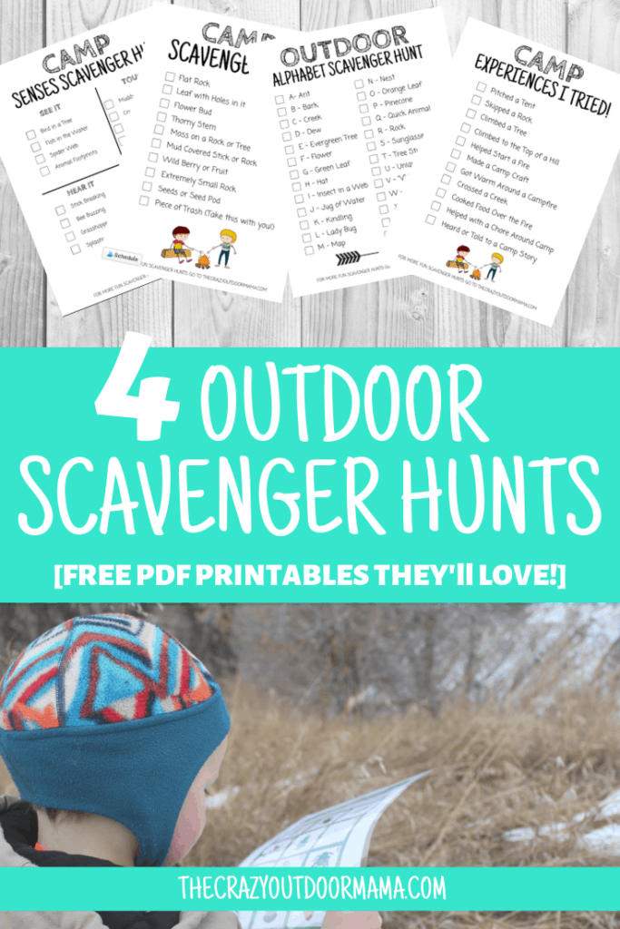 4 pdf scavenger hunts for kids camp