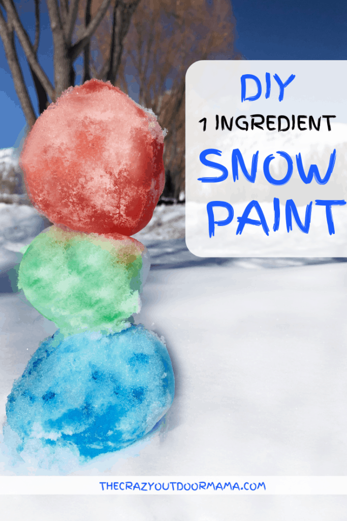Snow paint for kid with food dye