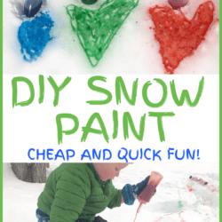DIY Easy Snow Paint for Kids! (1 Ingredient!)
