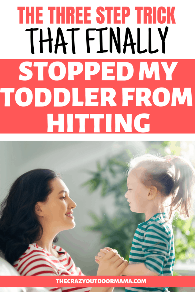 how to help a toddler stop hitting when mad or for fun