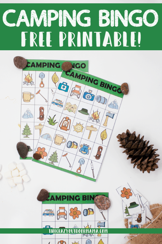 These fun printable camping bingo cards are a great way to have fun camping or at birthday parties!