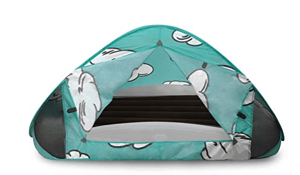 how to camp and travel with a toddler use tent on top of bed for darkened and distraction free sleep