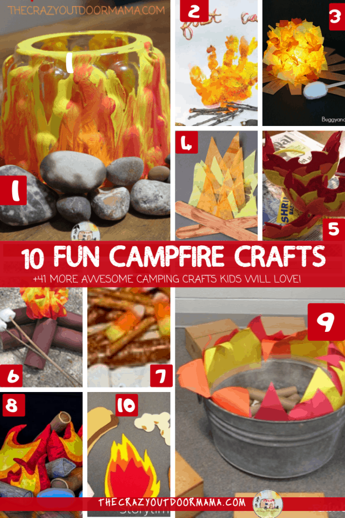 10 fun campfire crafts for kids and 41 more camping crafts for kids