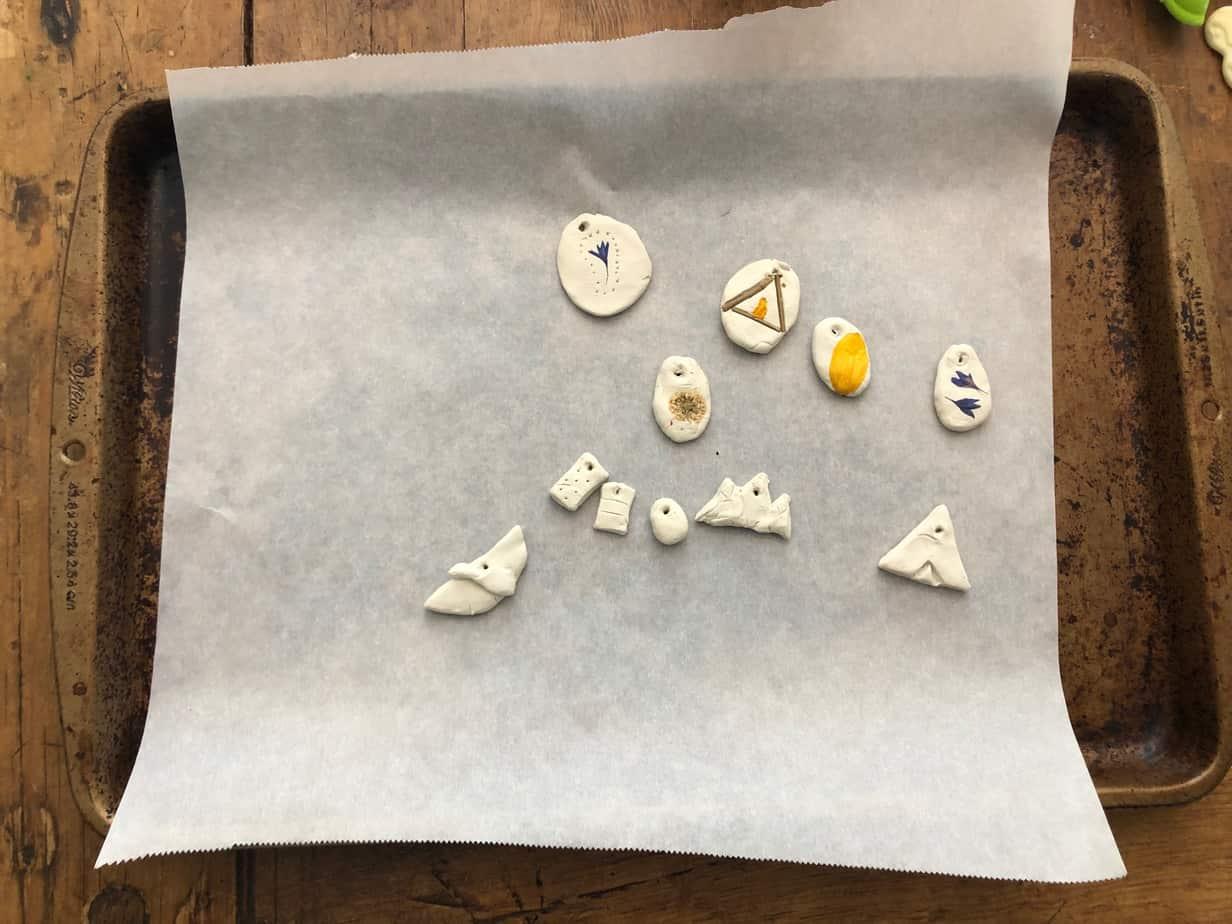 clay camp necklace craft