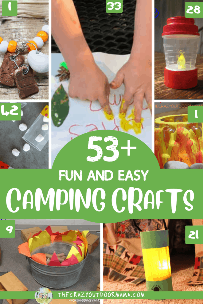 53 Camping Crafts for preschoolers to even older kids to do this summer that are fun and easy! Have a great family camp trip or camp themed party with these camping crafts!