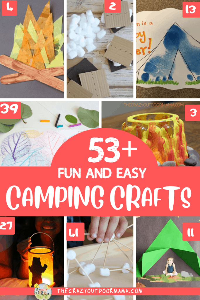 d5df63220f2c 53 Camping Crafts for preschoolers to even older kids to do this summer  that are fun