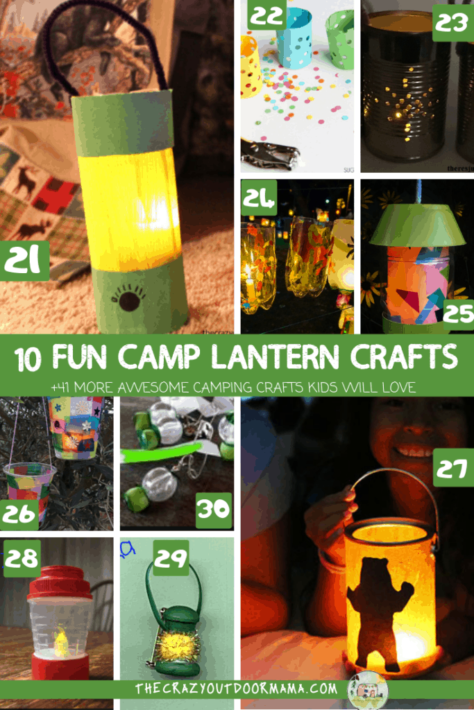10 fun camping lantern crafts for kids and 41 more camp crafts for preschoolers