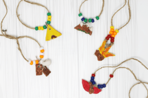 summer camping craft for kids camp necklaces