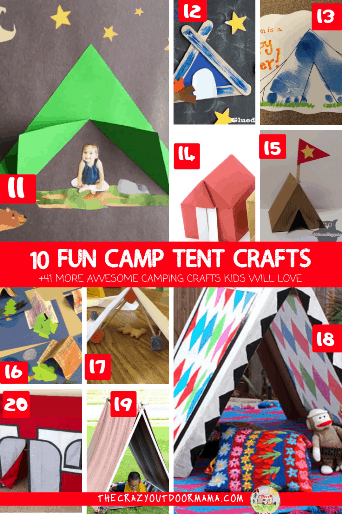 10 fun camping tent crafts for preschoolers and kids