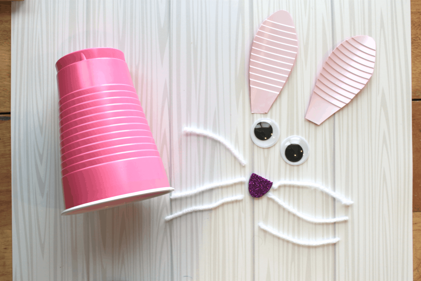 simple easter bunny craft for preschoolers with jellybeans
