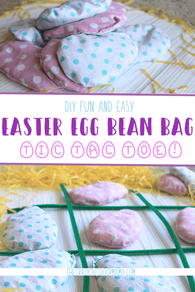 easter egg bean bag tic tac toe games for kids
