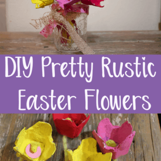 easy easter flower craft for kids or adults using egg carton rustic easter decor