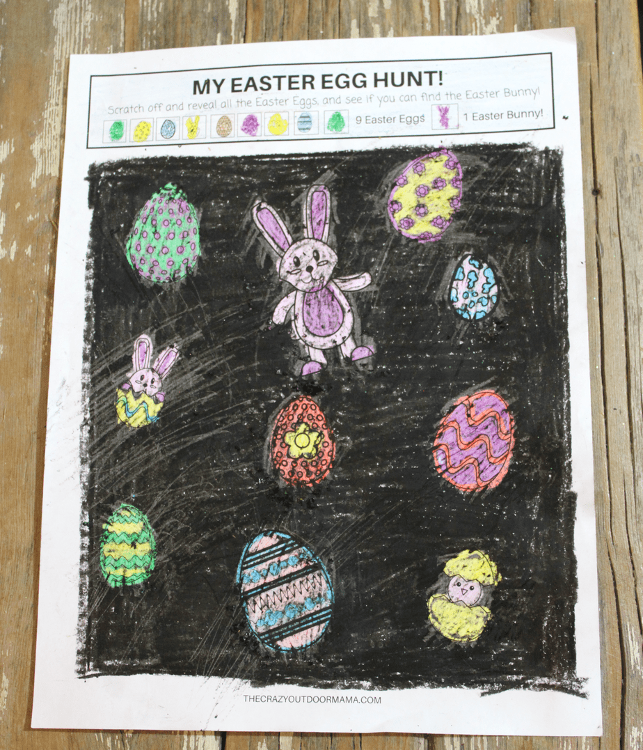 fun easter egg hunt game for kids scratch and reveal