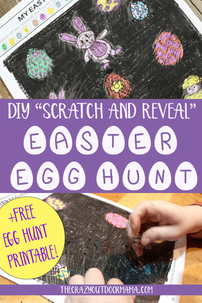 This fun easter craft for kids is easy for toddlers and preschoolers, and is a really fun egg hunt game to make for the classroom or at home! This DIY egg hunt scratch and reveal game is so fun, and includes the free printable!!