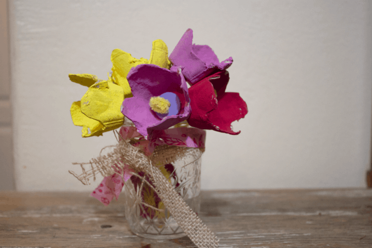 Egg Carton Tulip for Toddlers