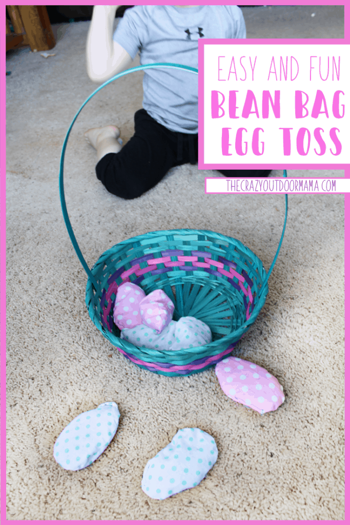 easy and fun easter game for toddlers and preschoolers using easter bean bags