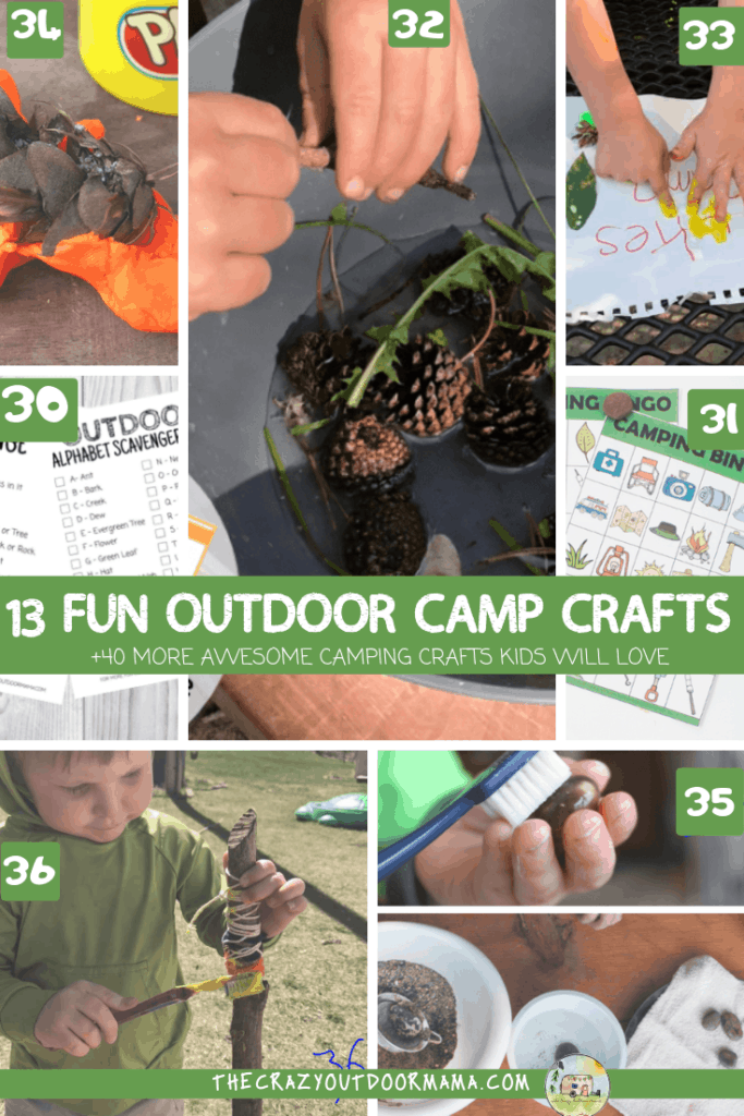 fun crafts to do while camping with kids outdoors craft for summer camp