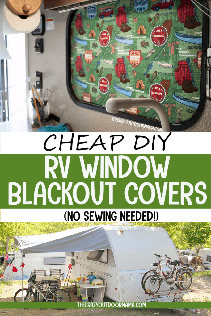 cheap and easy no sew blackout window covers for travel trailer