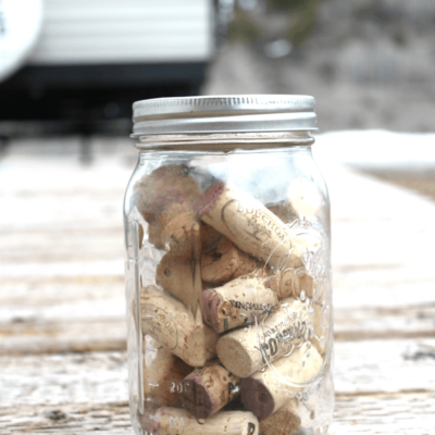 interesting home made fire starter with wine cork and isopropyl alcohol for camping