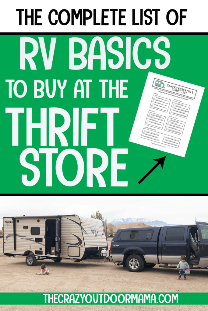 must haves rv basic products to get cheap at thrift store