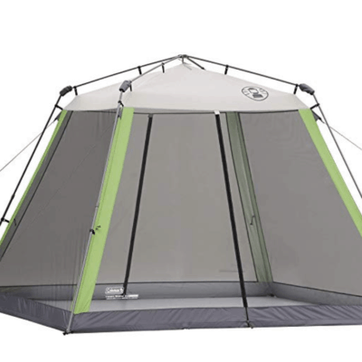 coleman pop up tent for rvs outside