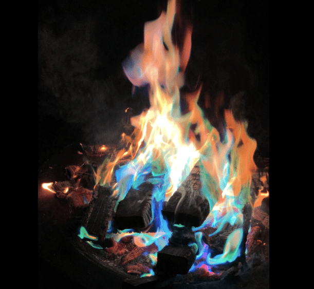 best color changing fire packets for camping