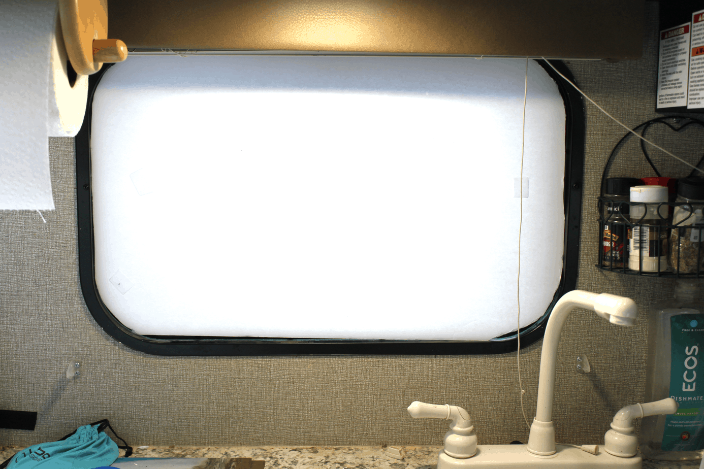 make sure your rv window blackout shade fits before moving onto material