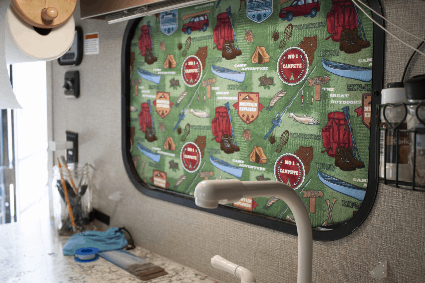 How To Diy Rv Blackout Window Covers For Your Rv Or Camper No Sewing Involved The Crazy Outdoor Mama