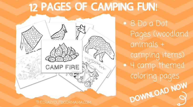camping printables do a dot coloring pages