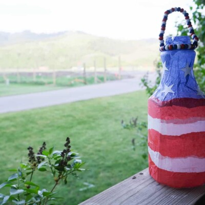 pretty 4th of july home decor diy for kids or adults