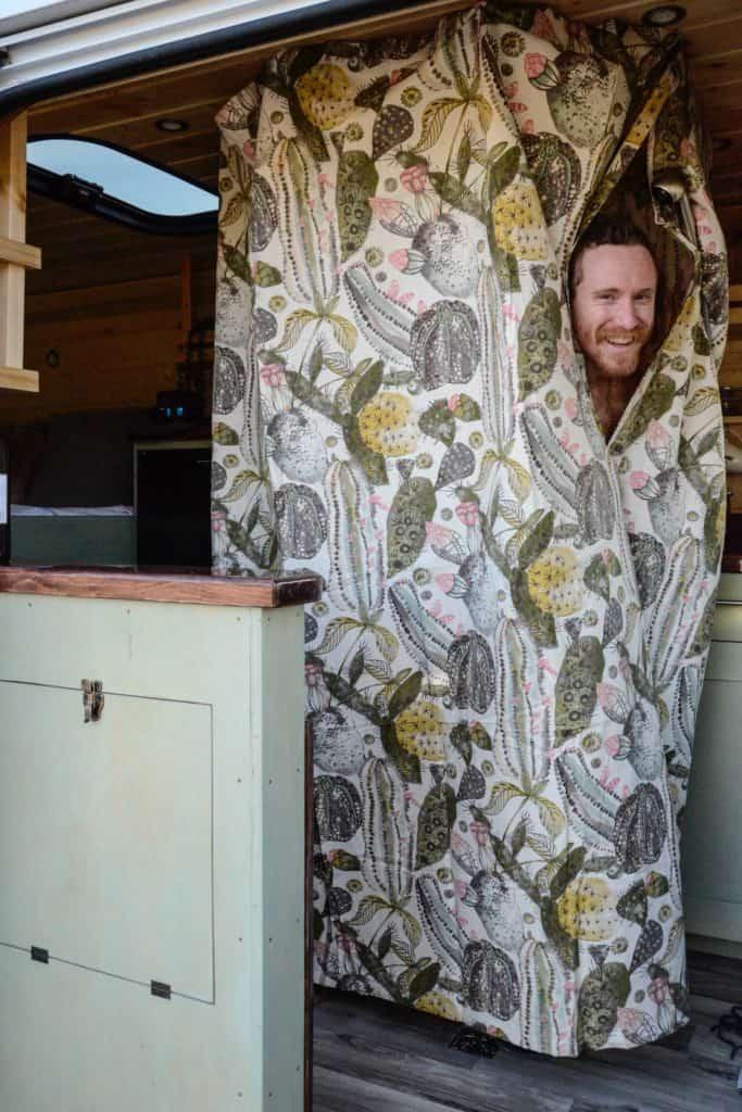 shower idea built into custom camper van josh phelps stinson vans
