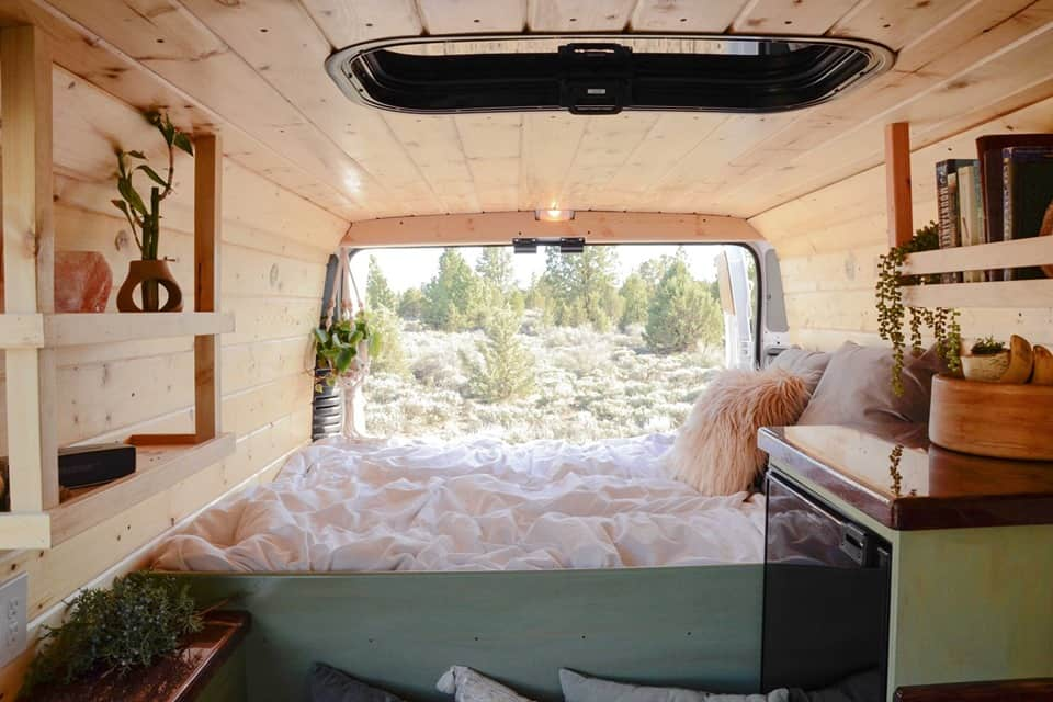 van bedroom bed decor ideas campervan