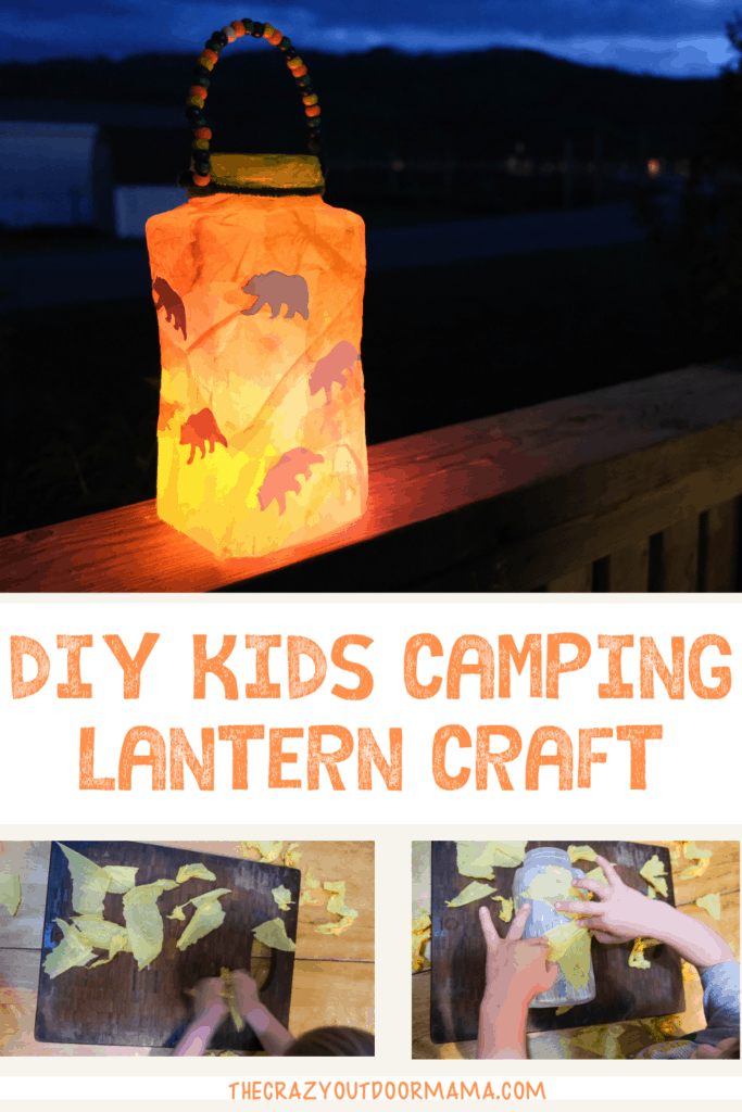 kids camping lantern craft