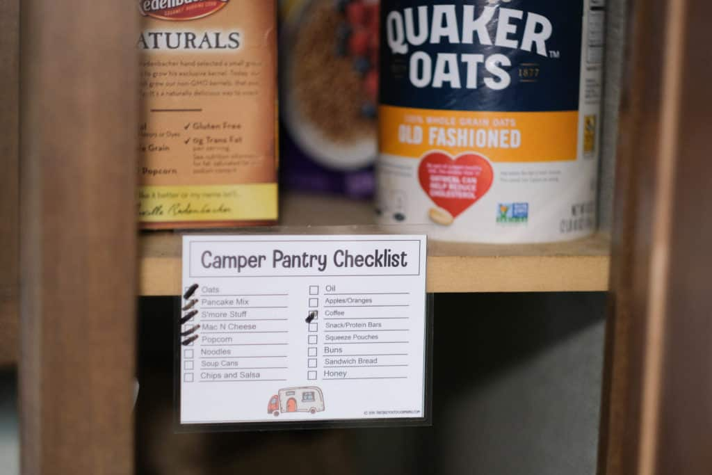 printable pantry food checklist for camper