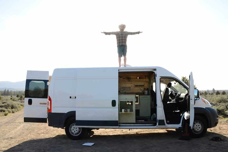 stealth camp with custom made van from stinson vans