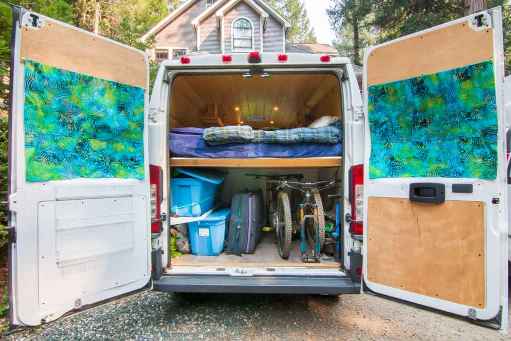 custom van with internal bike and gear storage josh phelps