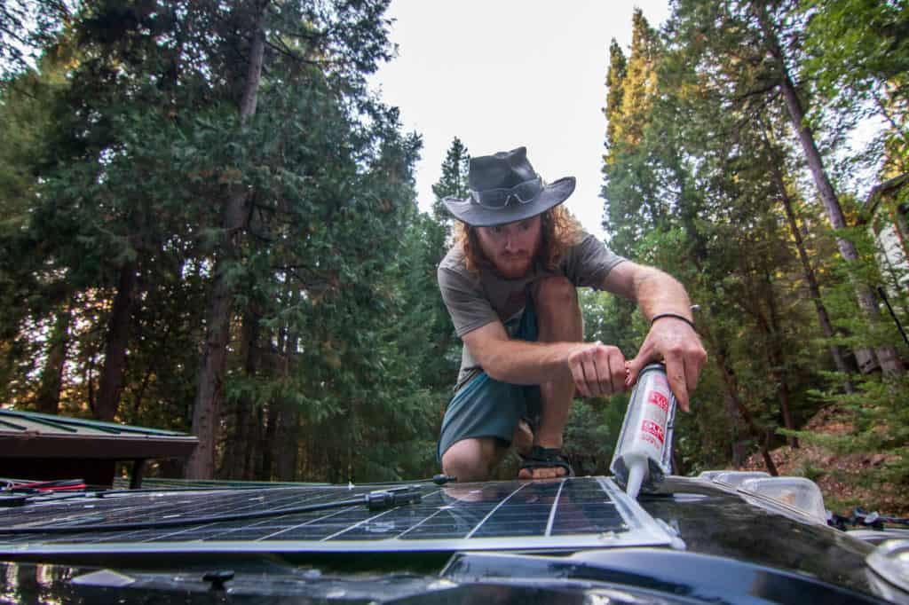 solar addition on custom van build