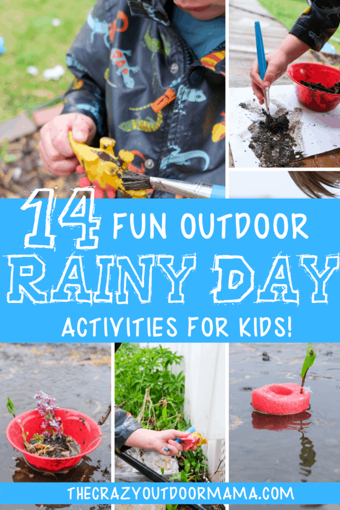 rainy day outdoor rain activities for kids