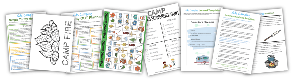 kids camping activity book for ideas with toddlers