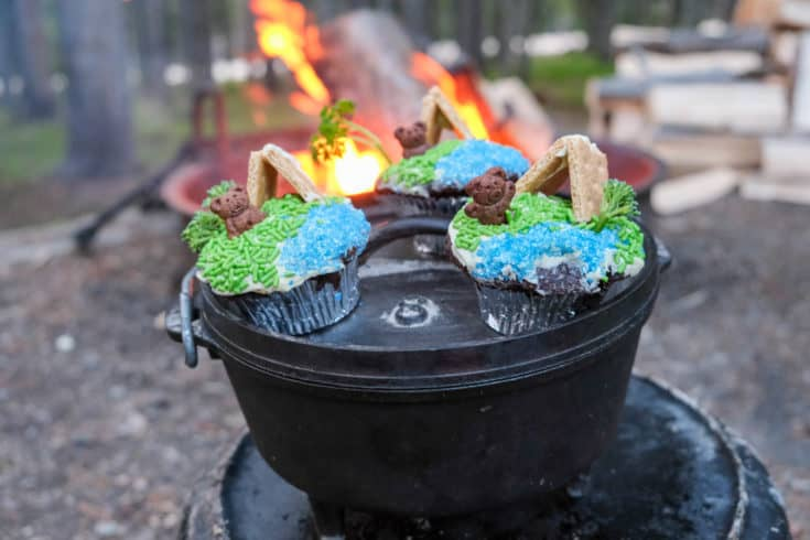 Decadent Dutch Oven Chocolate Cupcakes (Baked at Camp!)
