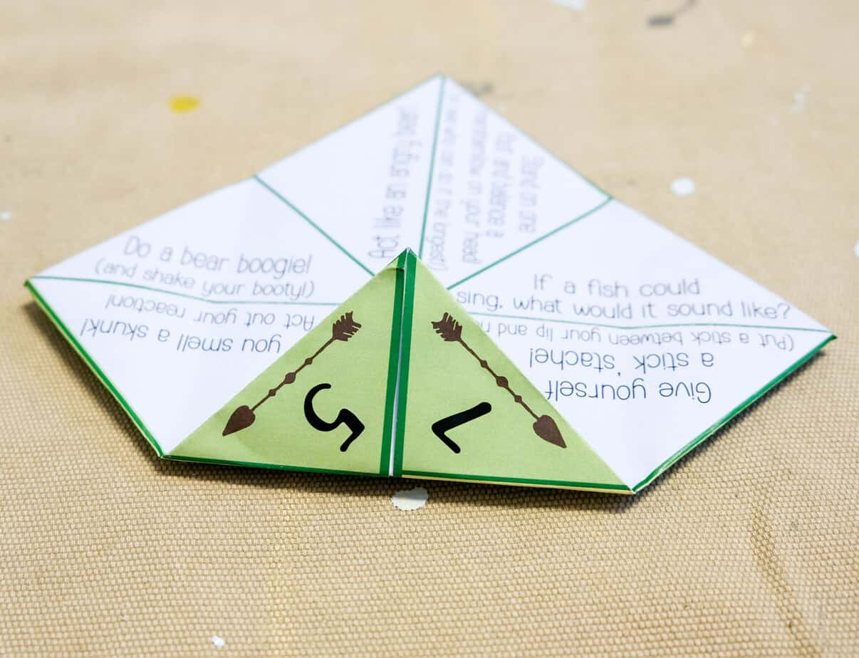 how to fold a cootie catcher origami