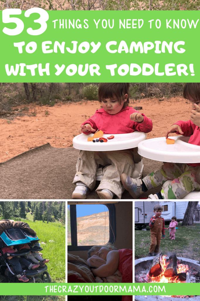toddler and kids camping tips