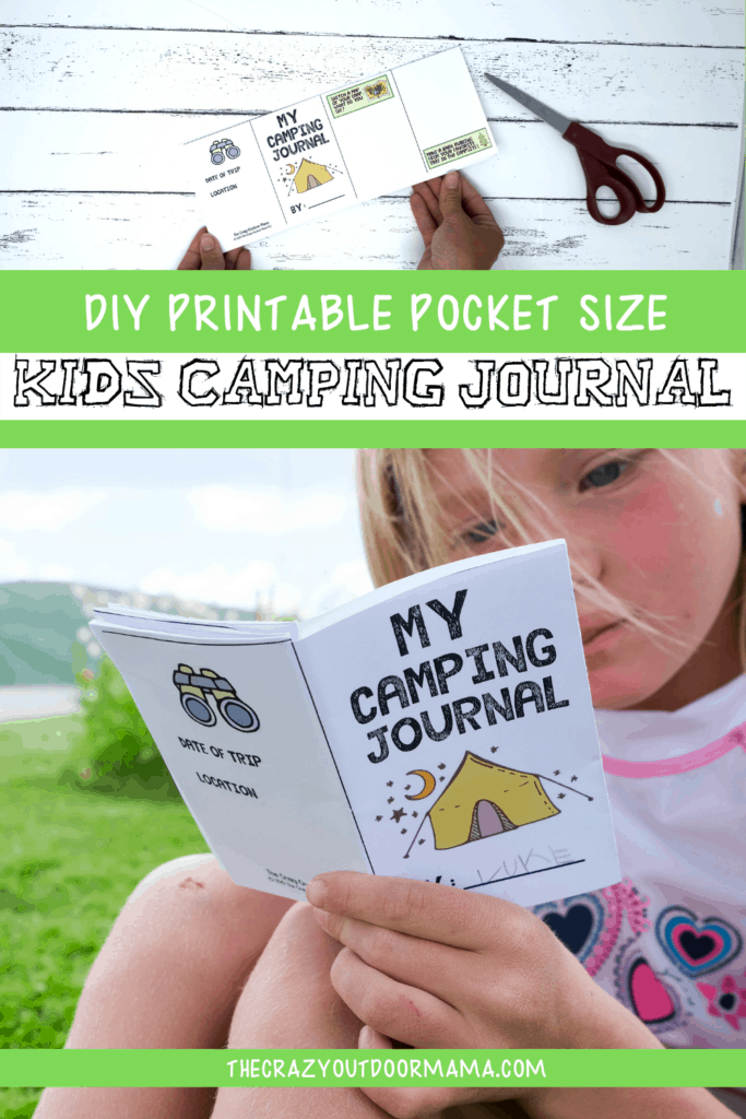kids camping journal printable for summer  camp